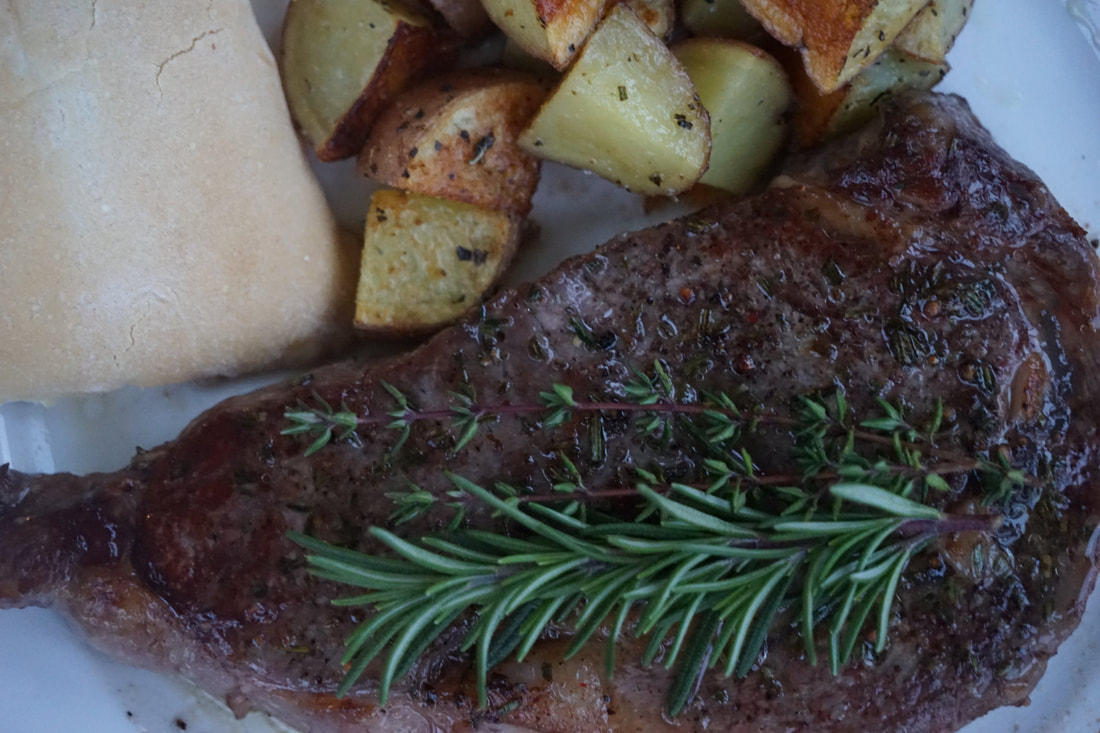 Skillet Steak with Garlic and Herbs - My Story in Recipes